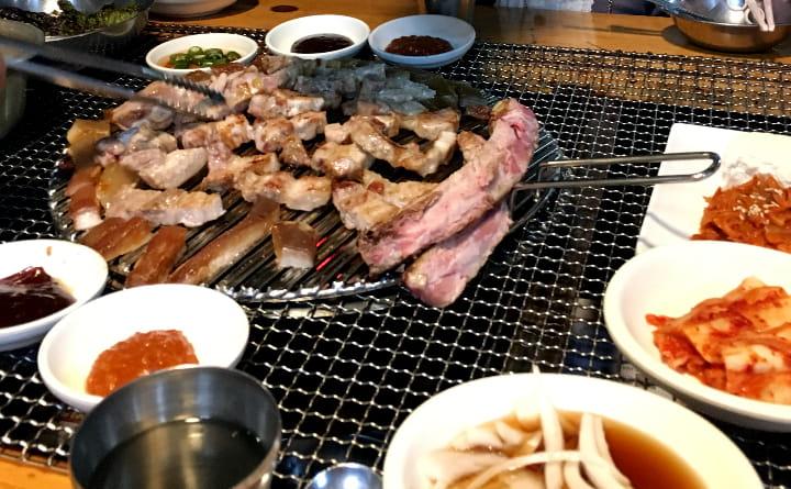 釜山で焼肉