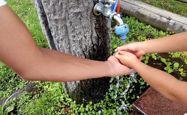 高千穂牧場のふれあいコーナー手洗い場