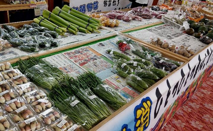観音さくらの里の野菜販売