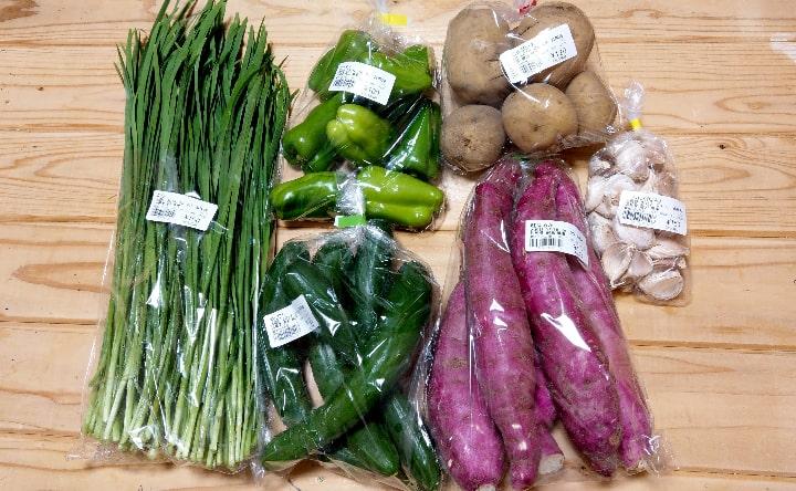 観音さくらの里で購入した野菜