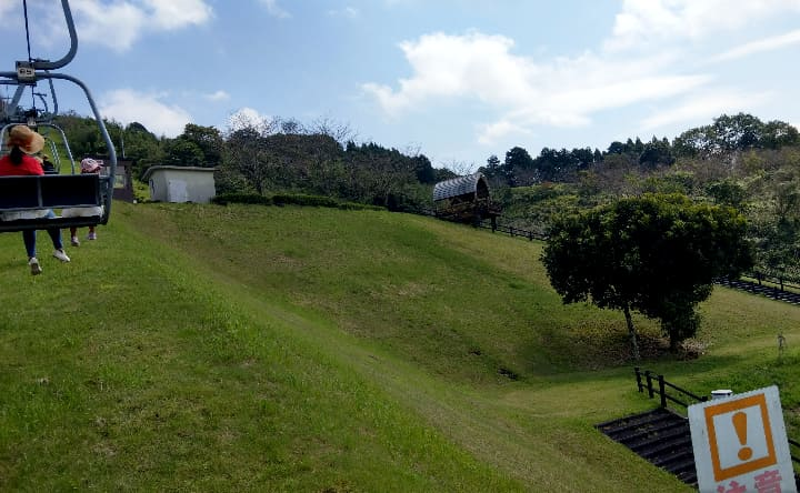 観音池公園のリフトの様子