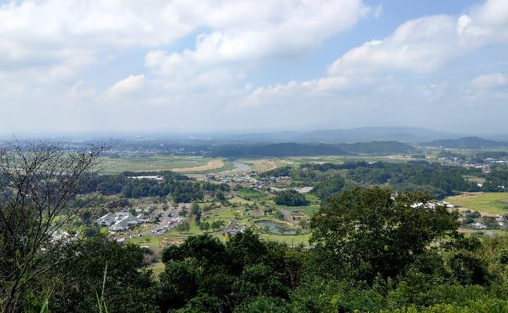 観音池公園の頂上からの景色