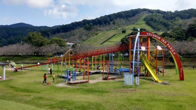 観音池公園のコンビネーション遊具