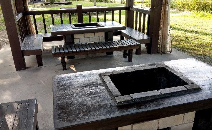 観音池公園BBQ場の様子