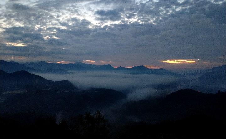 国見ケ丘の日の出