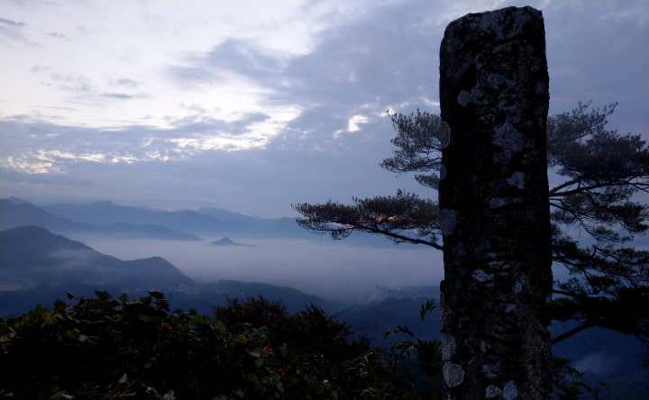 国見ケ丘展望台の雲海
