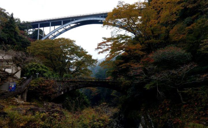 神橋から上流側の景色
