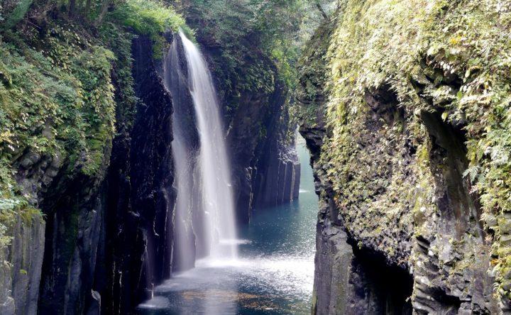 真名井の滝スローシャッター